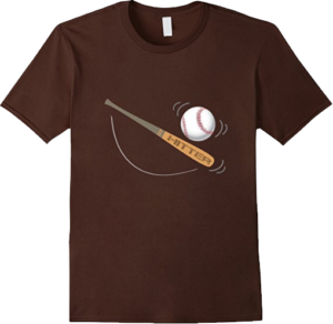 Hitter baseball bat ball t shirt