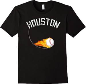 Houston Illinois Baseball Ball on Fire T shirt