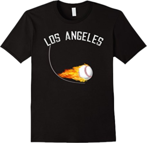 Los Angeles Ball on Fire baseball T shirt
