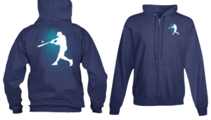 baseball apparel zip sports hoodie