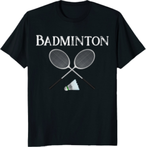 Badminton Rackets Sports T shirt