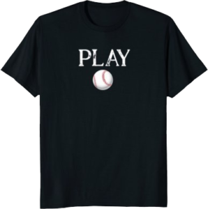 Baseball Play T shirt