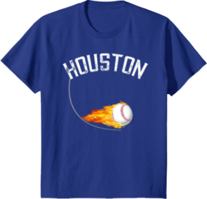 baseball apparel Houston T shirt