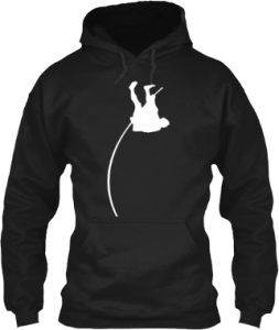 Pole vault track and field clothing hoodie