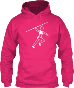 Female Javlin Throw Track and Field Sports Hoodie
