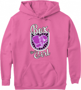 Box Like Girl Pink Boxing Gloves Hoodie