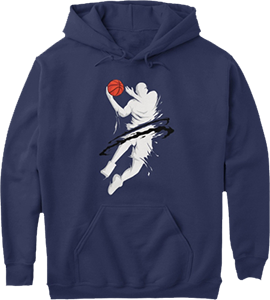 Basketball Player Ball in Action Hoodie