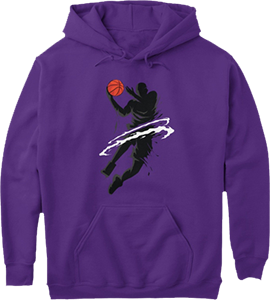 Basketball Player in Action Sports Hoodie