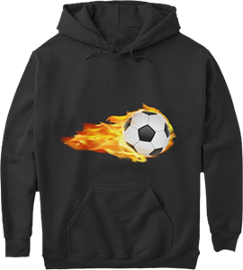 Fast Soccer Ball on Fire Sports Hoodie